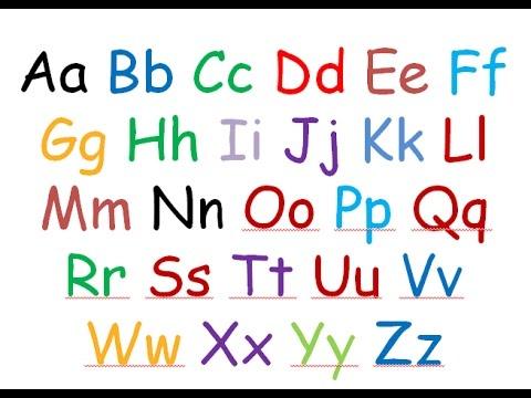 writing alphabet a to z