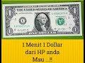 1 Menit 1 Dollar dari HP anda , MAU ...!!!