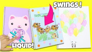 DIY Notebooks For Back To School! EASY DIY School Supplies 2017!  interactive notebooks