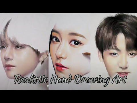 【抖音】 TikTok Kpop Realistic Art Drawing