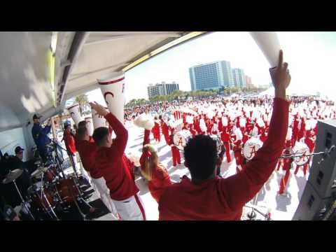 Alabama Marching Band at Clearwater Beach 1-8-17. Johnnystix