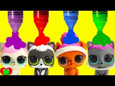 LOL Surprise Pets vs LOL Surprise Dolls Learn Colors