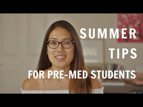 What to do in the summer if you're a Pre-Med Student | Summer tips for Pre-medical  Students
