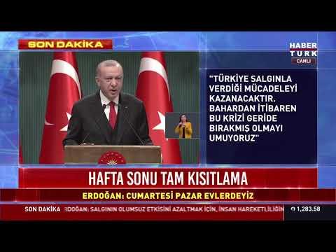 Cumhurbaşkanı Recep Tayyip Erdoğan yeni tedbirleri açıkladı...