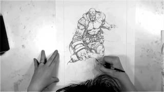 How to draw Hellboy very fast