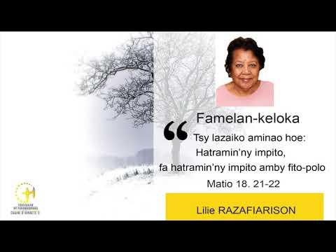 CHAINE - FAMELAN-KELOKA - LILIE RAZAFIARISON