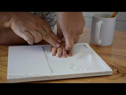 Bubzi Co Baby Handprint Kit & Footprint Photo Frame For Newborn Girls And Boys