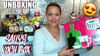 UNBOXING💥 Sallys Kochbox von brandnooz SEPTEMBER 2018 - Wow was für tolle Produkte! 😍