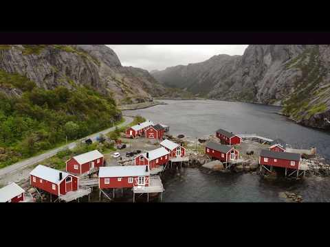 Beautiful Lofoten Norway Travel Drone 4K with Mercedes Sprinter camperx