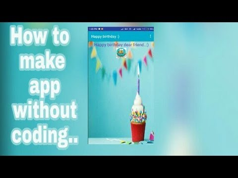 Make A Birthday Card App In Makeroid Youtube
