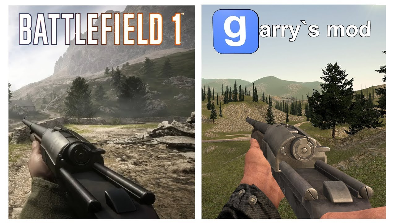 Battlefield 1 Weapons Ported to Garry's Mod