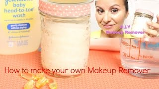 DIY  eye Makeup Remover/ Ditch the toxin & save money