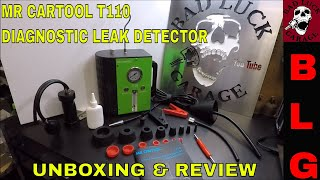 MR CARTOOL T110 DIAGNOSTIC LEAK DETECTOR SMOKE MACHINE UNBOXING AND REVIEW