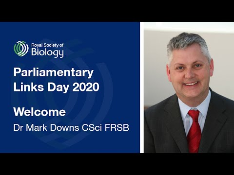 Welcome from RSB Chief Executive Mark Downs | Links Day 2020 | Royal Society of Biology