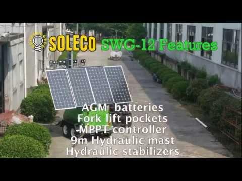 Soleco SWG-12 Hybrid solar wind LED tower