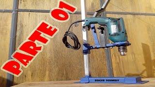 Suporte de Furadeira (Caseiro) Parte 01 - Drill Press Support DIY