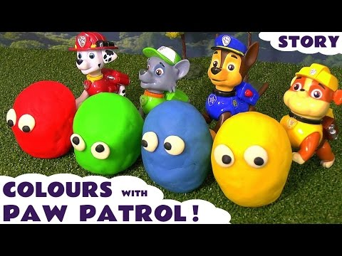 Thumbnail: Learn Colors with Paw Patrol and Play-Doh stop motion surprises - Thomas & Friends toy trains TT4U