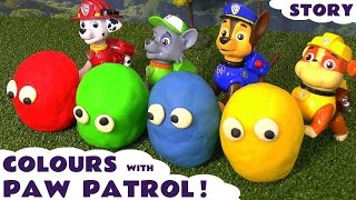 Learn Colors with Paw Patrol and Play-Doh stop motion surprises - Thomas & Friends toy trains TT4U