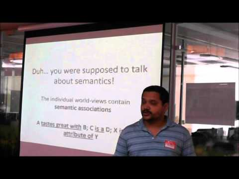 Mining Structured Semantics from Text - Mandar Mutalikdesai at Software Architects Bangalore Meetup