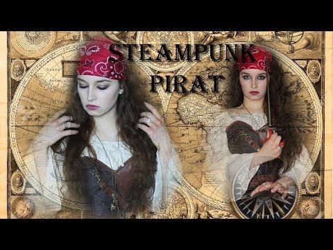 Steampunk Piratin Haare Und Make Up Youtube