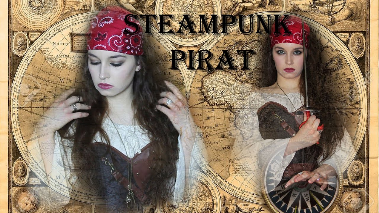 steampunk piratin haare und make up youtube. Black Bedroom Furniture Sets. Home Design Ideas