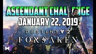 Ascendant Challenge Solo Guide January 22 2019 | Destiny 2 Forsaken | Taken Eggs & Lore Locations