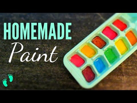 HOMEMADE NON-TOXIC PAINT for Babies/ Toddlers and Kids | DIY Edible Finger Paint /Colour