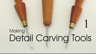 Making detail carving tools:  miniature and micro chisels.  Part 1