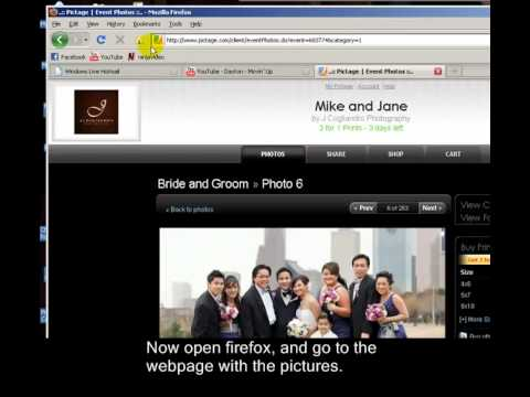 How to save protected pictures from websites