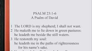 Psalm 23:1-6 ♪♩ KJV Scripture Song, Full Chapter Verbatim