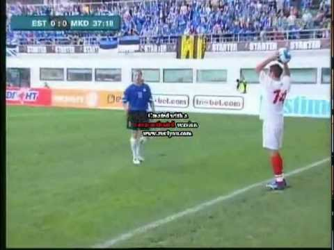 Estonia 0:1 Macedonia 2006 full highlights