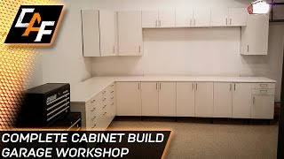 Adding cabinets to a workshop can be a very good idea. Much like a kitchen, installing cabinets gives you the ability to store tools