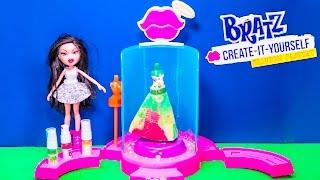 BRATZ Create Your Own Fashion Brats Paint Your Own Dress Bratz Video Toy Unboxing