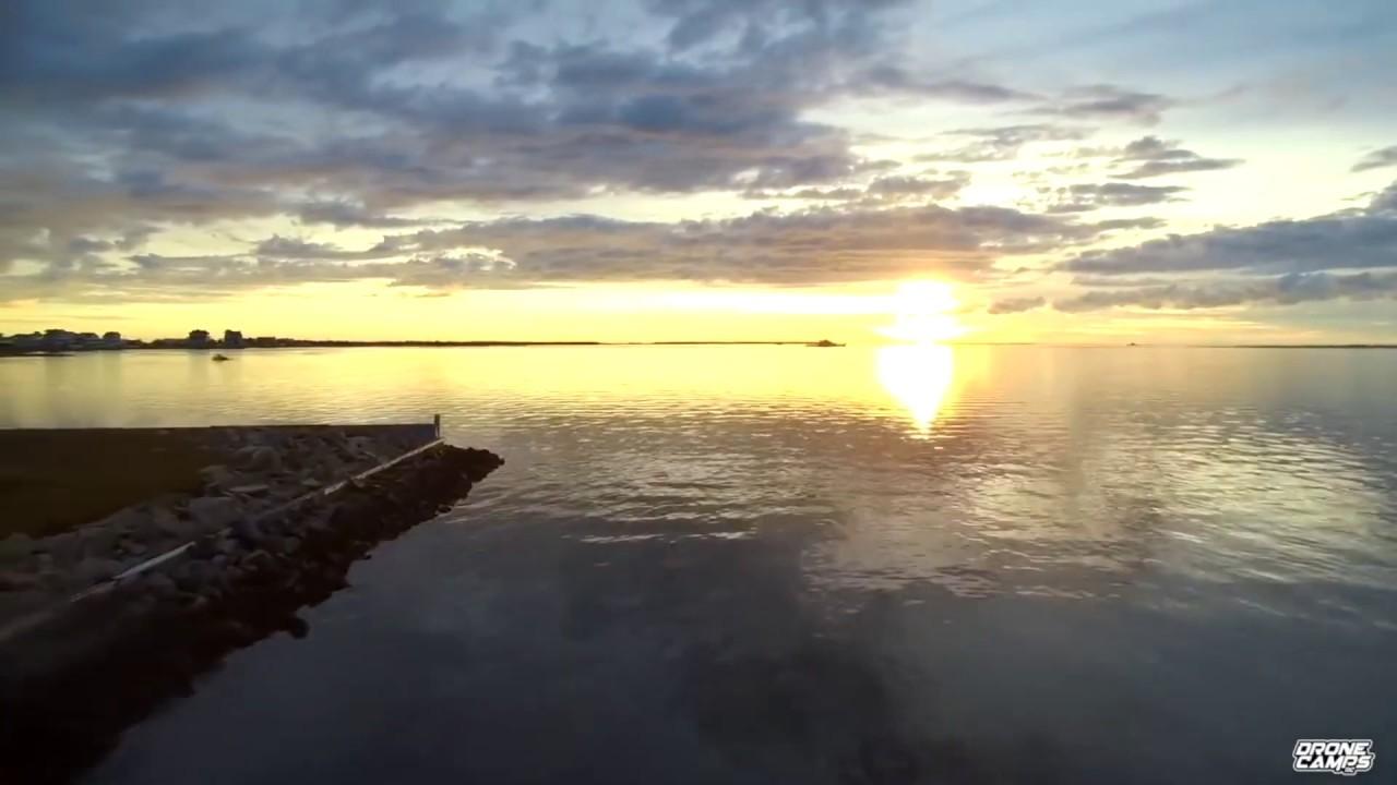 SplashDrone3+ Captures - Hatteras North Carolina Harbour Scenery and Sunset