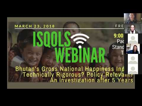 Sabina Alkire on Gross National Happiness for ISQOLS