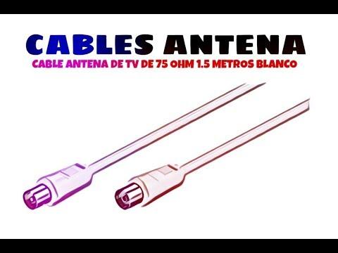 Video de Cable antena de TV de 75 Ohm 1.5 M Blanco