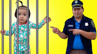 Baby Maddie Plays Cop Police Jail Story for Kids | Children Following Rules Funny Video
