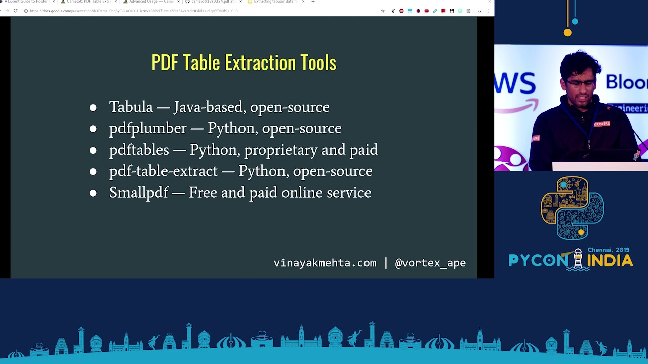 Image from Extracting tabular data from PDF'S with Camelot & Excalibur - Vinayak Mehta