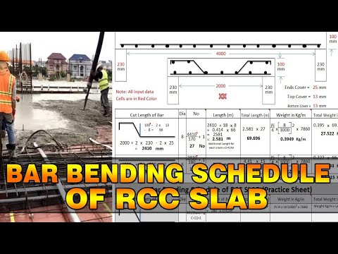 Bar Bending Schedule of SLAB | Quantity Surveying and Estimation in Urdu | Quantity Surveyor