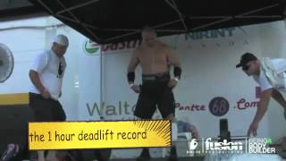 Pro Strongman breaks 2 World records in 1 day!
