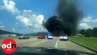 NASCAR Driver Dale Earnhardt Jr Survives Fiery Plane Crash