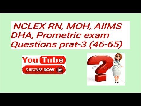 NCLEX, AIIMS,MOH ,DHA EXAM QUESTIONS PART-3 BY NURSES EXAM.