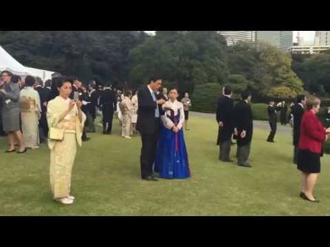 Their Majesties' The Emperor and Empress of Japan Garden Party at the Akasaka Imperial Gardens,Tokyo