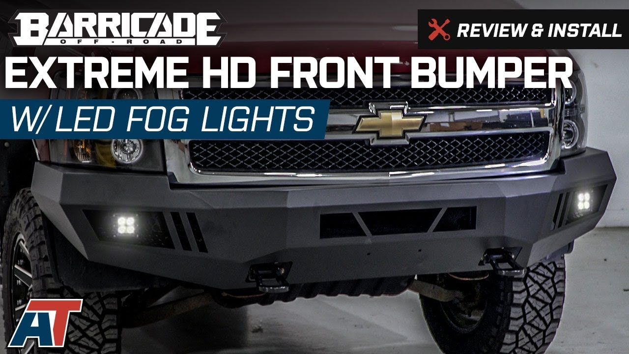 2007 2013 Silverado Barricade Extreme Hd Front Bumper W Led Fog This Quick And Easy Technote Will Show You How To Wire Foglights Into Lights Review Install