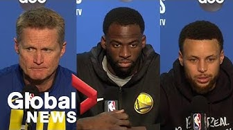 NBA Finals: Warriors react to investor Mark Stevens' shove on Kyle Lowry