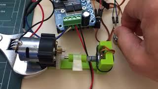 Arduino Servo DC Motor with Potentiometer