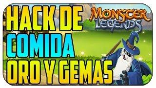 HACK DE GEMAS, ORO, COMIDA MONSTER LEGENDS MARZO 2016