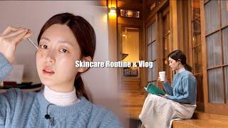 ✨스킨케어 & 한옥스테이 호캉스! 힐링힐링 하루 보내기  Skincare & vlog | CHES 체스