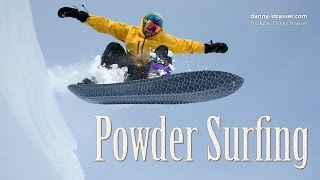 snowboarding without bindings - Powder Surfing