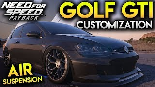 AIR SUSPENSION GOLF GTI CUSTOMIZATION - Need For Speed Payback Gameplay PC